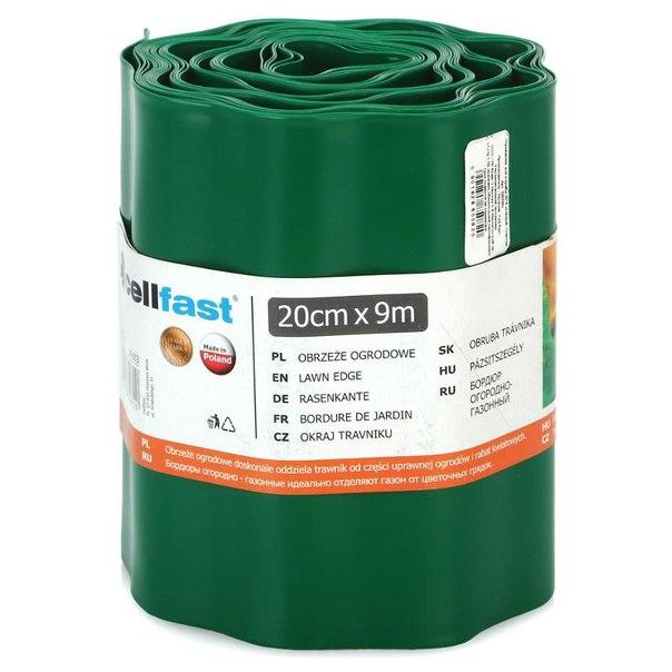 Ограждение для клумбы cellfast 20см х 9м, цвет зеленый