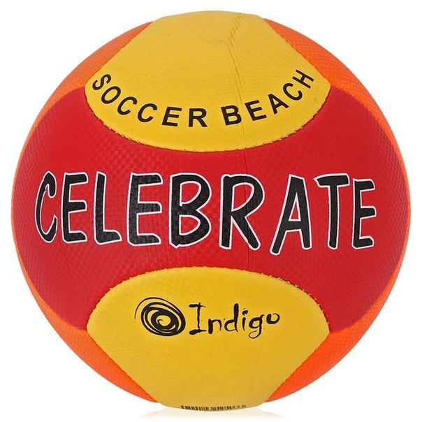Мяч футбольный indigo celebrate beach, размер 5, пляжный