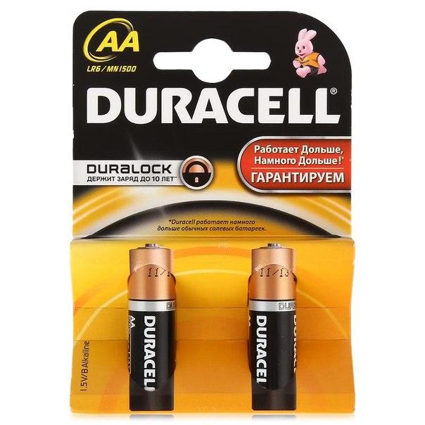 Батарейки aa (lr6) 2шт. duracell щелочные basic