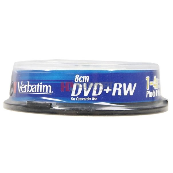 Диски dvd+rw 8 см 1.4gb 4x printable verbatim