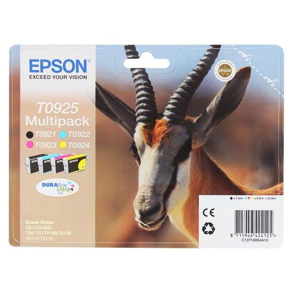 Набор epson t10854a/т09254а из 4 картиджей