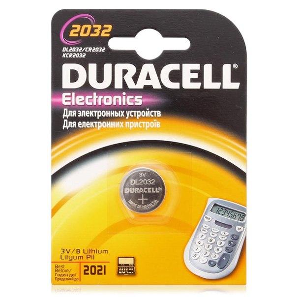 Батарейка cr2032 1шт. duracell литиевая