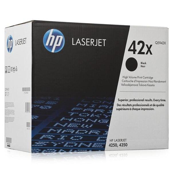 Картридж hp q5942x для laserjet 4250/4350, черный