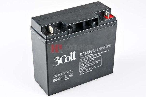 Батарея аккумуляторная 3cott rt12180