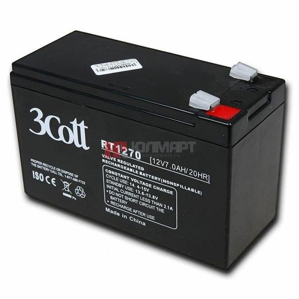 Батарея аккумуляторная 3cott rt1270