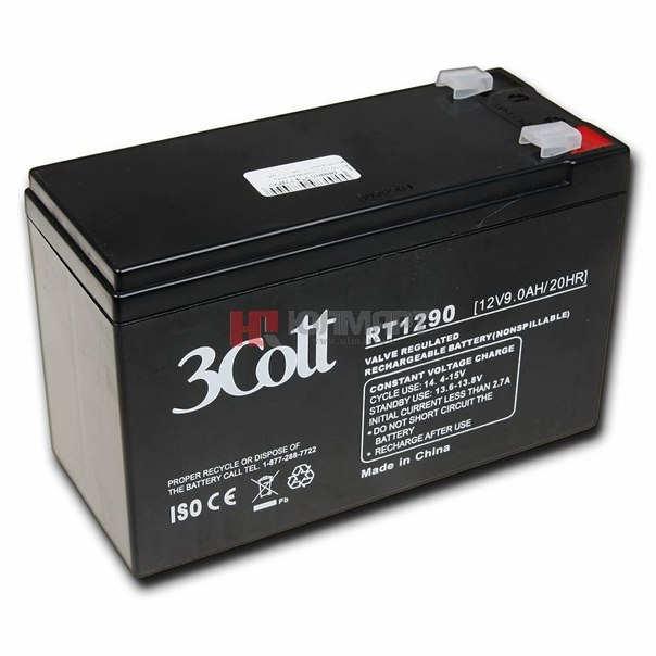 Батарея аккумуляторная 3cott rt1290