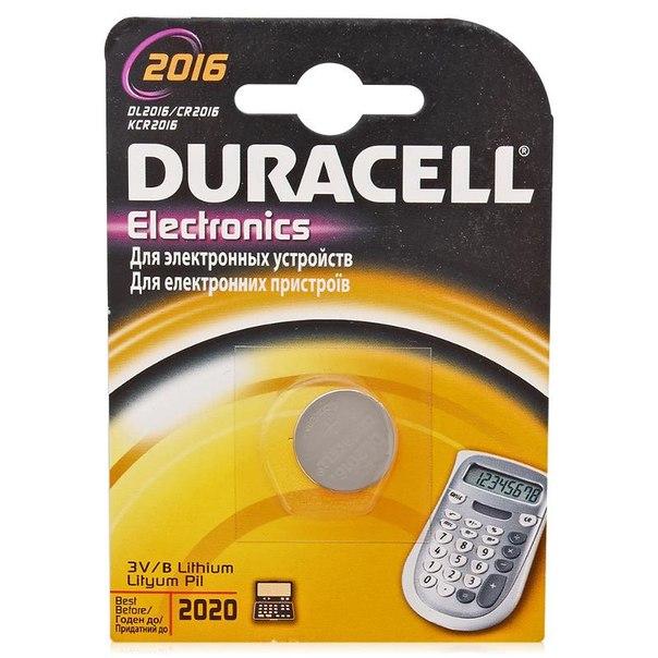 Батарейка cr2016 1шт. duracell литиевая