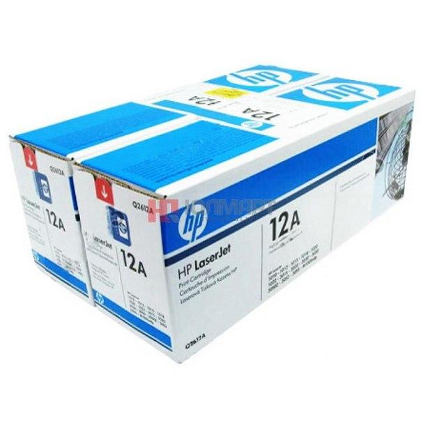 Двойная упаковка картриджей hp q2612af
