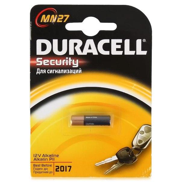 Батарейка a27 1шт. duracell щелочная mn27