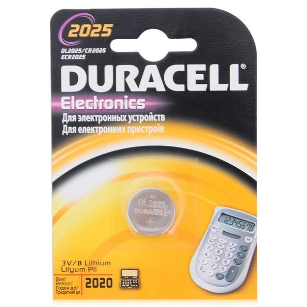 Батарейка cr2025 1шт. duracell литиевая