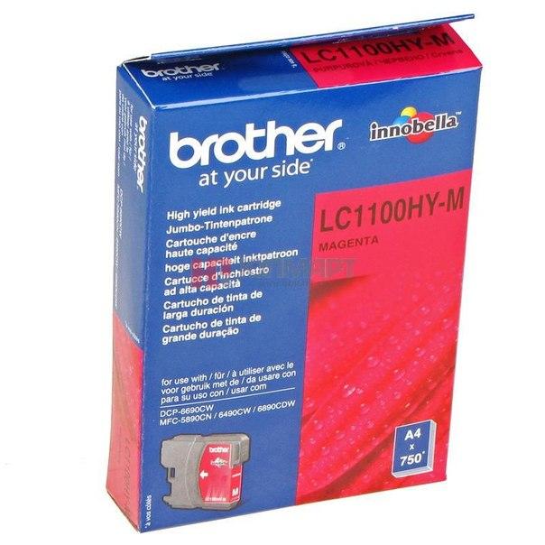Картридж brother lc-1100hym, пурпурный