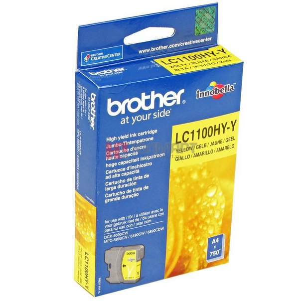 Картридж brother lc-1100hyy, желтый