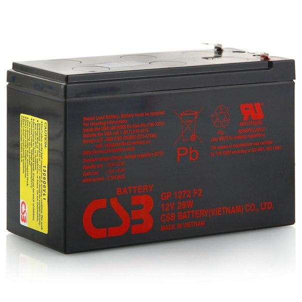 Батарея аккумуляторная csb gp 1272 f2 28w