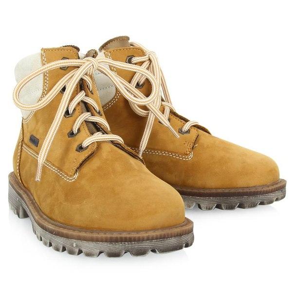 Ботинки для девочек richter 12224255111, размер 26, цвет желтый