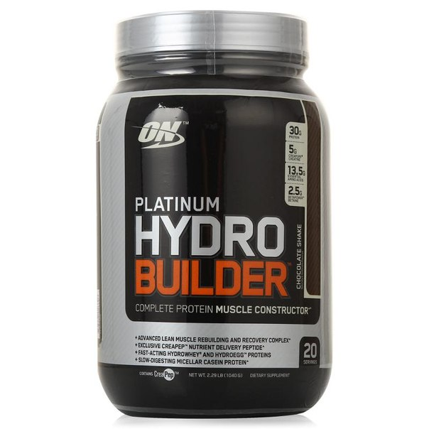 Протеин optimum nutrition platinum hydro builder (шоколад) 1040 г
