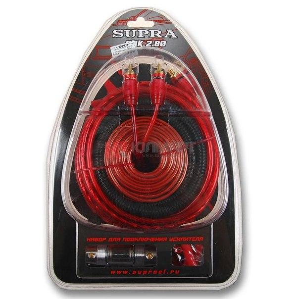 Набор проводов для усилителя supra sak 2.80