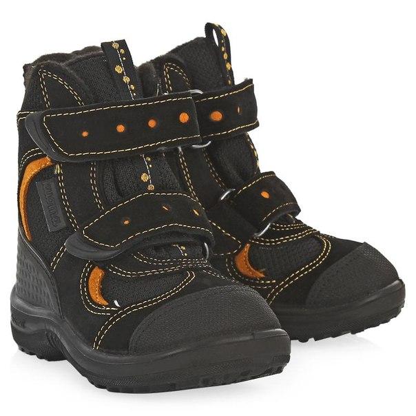 Ботинки детские kuoma даниэль, размер 26, цвет черный с оранжевым