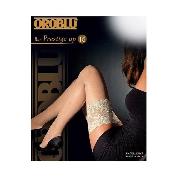 Чулки женские oroblu prestige up bas, 15 den, black (черный), 2-m