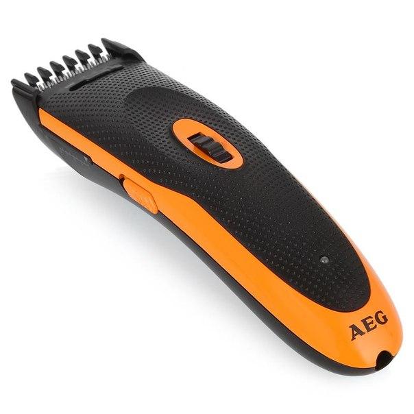 Набор машинка для стрижки aeg hsm/r 5597 ne + триммер для носа и ушей