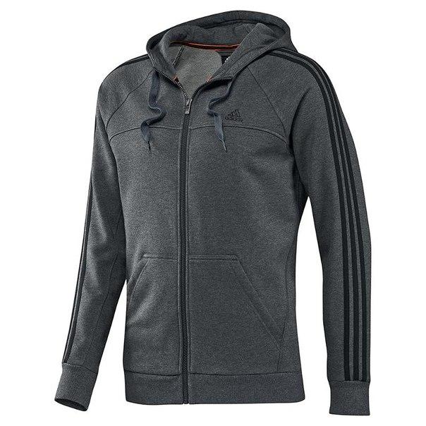 Джемпер с капюшоном adidas ess 3s fzhood x20759, мужской, темно-серый