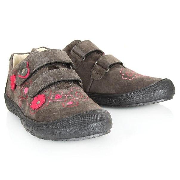 Ботинки для девочек richter 41314256612, размер 34, цвет серый