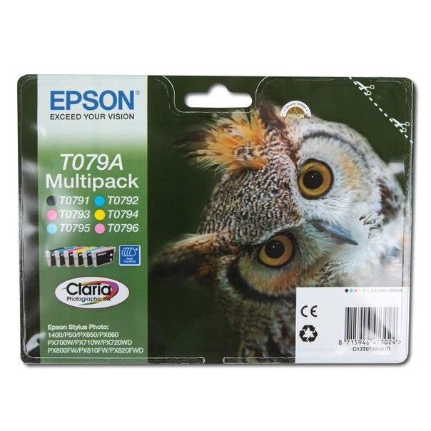 Набор epson t079a из 6 картиджей
