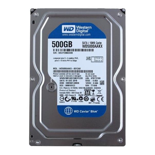 Жесткий диск hdd 500гб, western digital caviar blue, wd5000aakx
