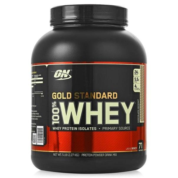 Протеин optimum nutrition 100% whey gold standard (шоколад кокос) 2270 г