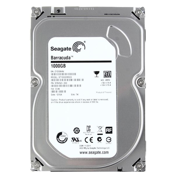Жесткий диск hdd 1тб, seagate barracuda 7200.14, st1000dm003