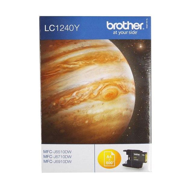 Картридж brother lc1240y, желтый