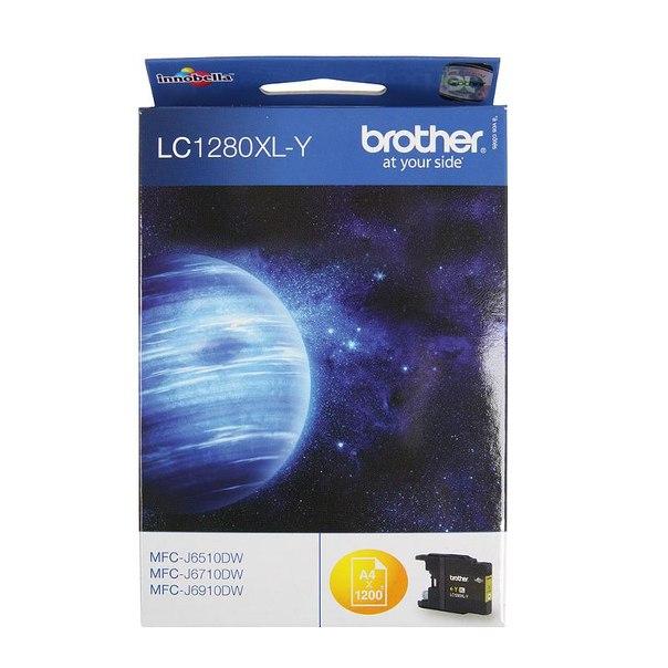 Картридж brother lc-1280xly, желтый