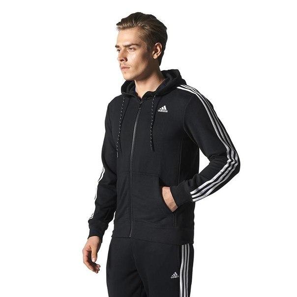 Джемпер с капюшоном adidas ess the hood s88109, мужской, черный