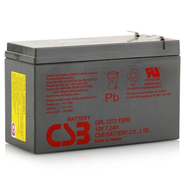 Батарея аккумуляторная csb gpl 1272 f2fr 12v, 7.2 ah