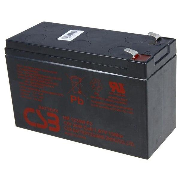 Батарея аккумуляторная csb hr 1234w f2 12v 9 ah