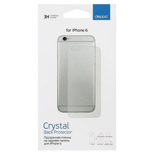 """Защитная пленка deppa для apple iphone 6 4.7"""", прозрачная, на заднюю панель"""