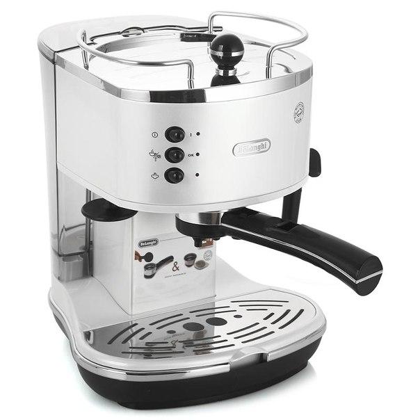 Кофеварка эспрессо delonghi eco 310.white