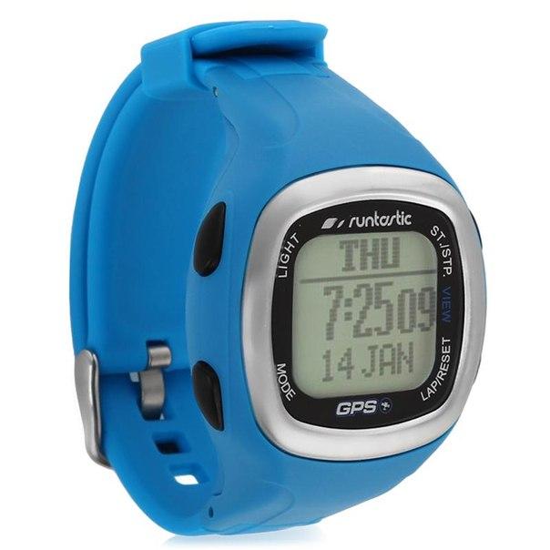 Спортивные часы runtastic с пульсометром и gps-датчиком rungps1, синие