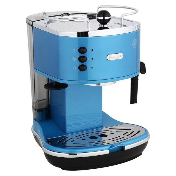 Кофеварка эспрессо delonghi eco 310.blue, 15 бар, 1100 вт