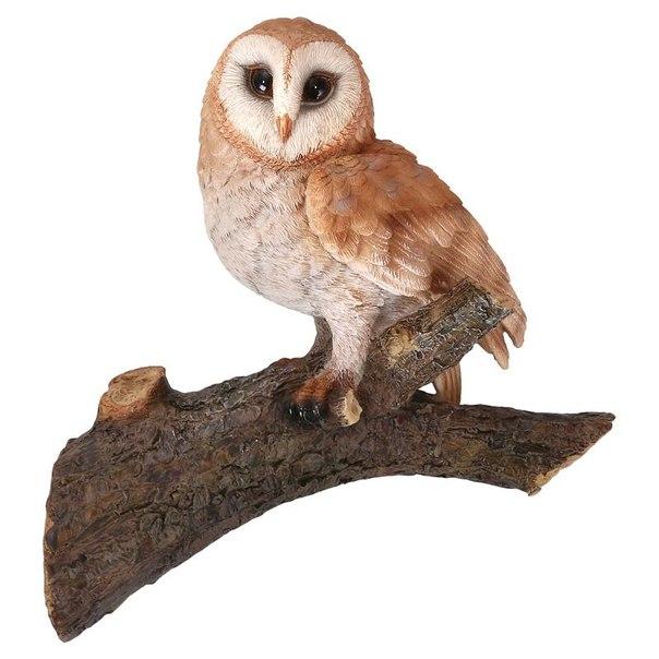 Фигурка садовая elsa сова на ветке на07380 8,8см