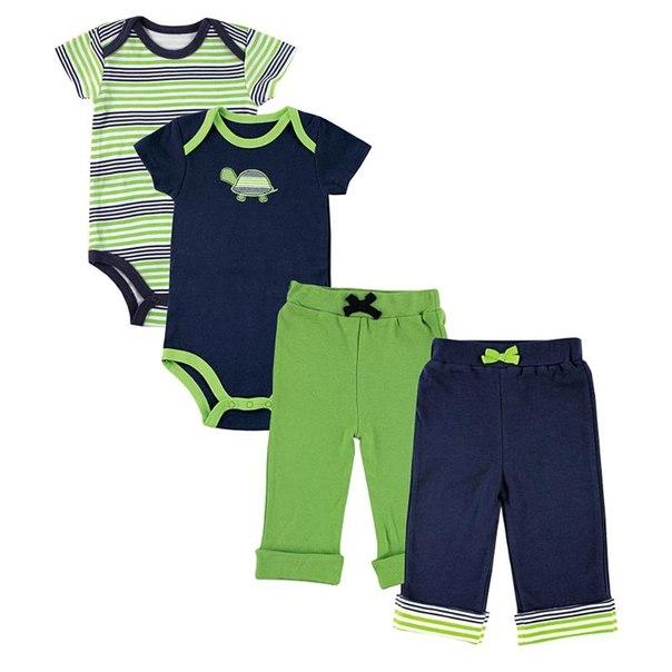 Комплект для мальчиков yoga sprout 90060/90080, возраст 9-12 месяцев, цвет синий-зеленый