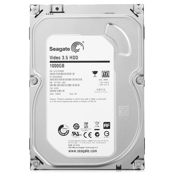 Жесткий диск hdd 1тб, seagate video 3.5 hdd, st1000vm002