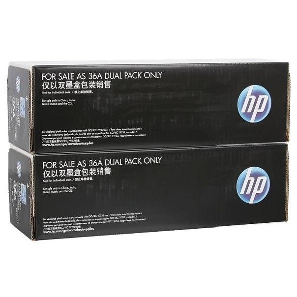 Двойная упаковка картриджей hp cb436af