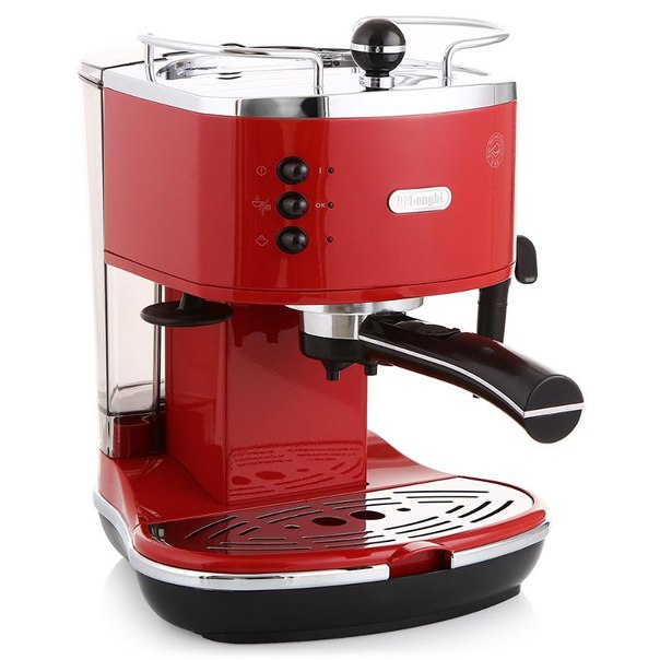 Кофеварка эспрессо delonghi eco 310.red, 15 бар, 1100 вт
