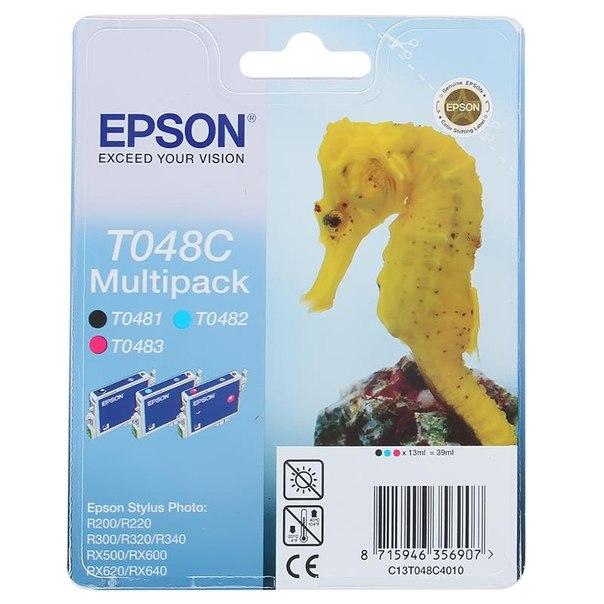 Набор epson t048c40 из 3 картриджей