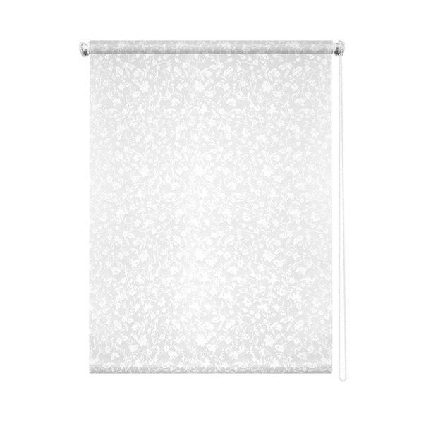 Штора рулонная уют лето 7705, 60 см x 170 см, цвет белый