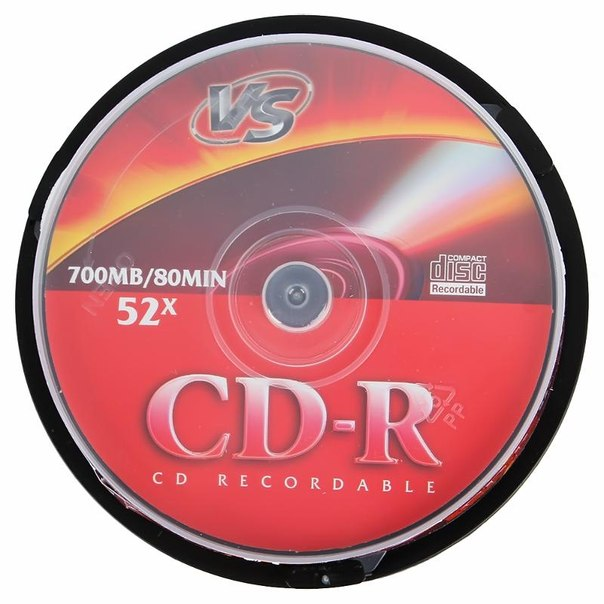Диск cd-r 700mb 52x cakebox (10 шт) vs