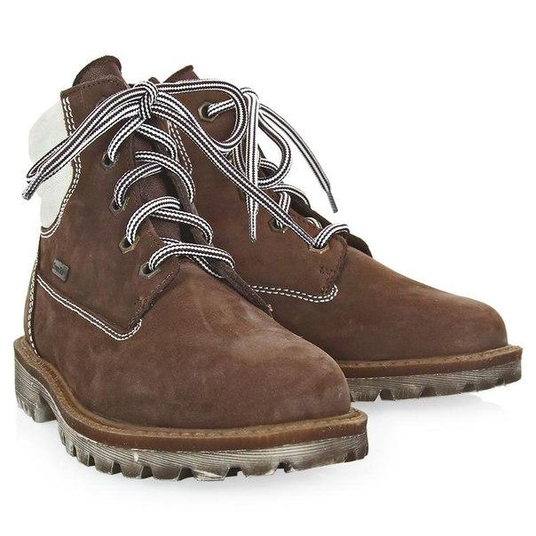 Ботинки для девочек richter 12224259201, размер 25, цвет коричневый