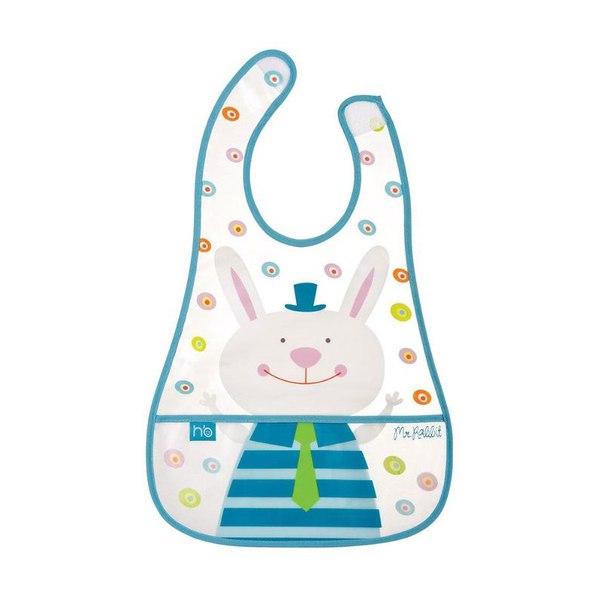 Нагрудник happy baby children's bib голубой, 1 шт