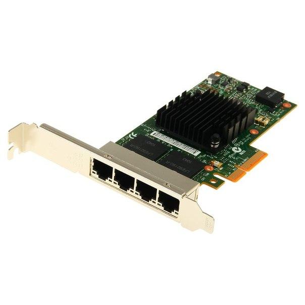 Серверная сетевая карта intel i350-t4 blk