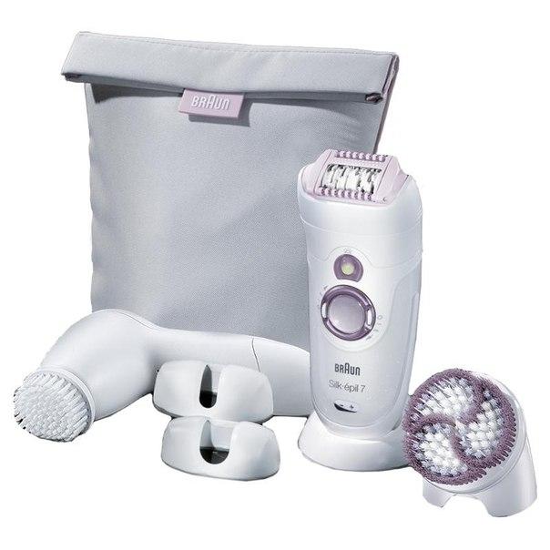 Набор для эпиляции эпилятор braun 7979 silk-epil 7 + прибор для чистки лица
